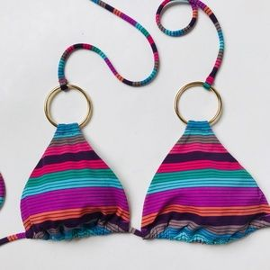 Victoria's Secret Striped Ring Triangle Bikini Top